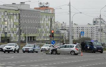 В Минске произошло ДТП с участием милицейского автомобиля