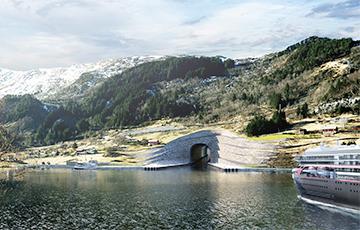 Норвегия начала строительство первого в мире тоннеля для крупных кораблей