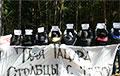 Стоўбцы выйшлі з плакатамі на акцыю салідарнасці