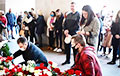 Hundreds Of Minskers Brought White And Red Flowers To Site Of Tragedy