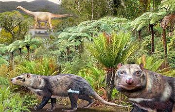 Ученые воссоздали облик зверя, жившего среди динозавров 74 миллиона лет назад