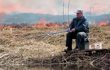 Everything Is Burning Behind the Back, And They Are Fishing