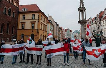 Белорусы Вроцлава вышли на акцию солидарности