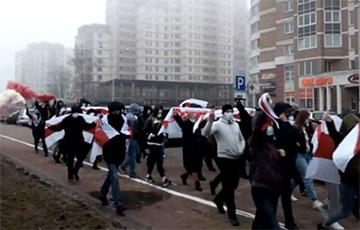 Минчане с Притыцкого с самого утра вышли на яркий марш0