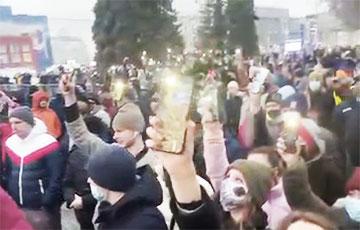 Новасібірск выйшаў у падтрымку Аляксея Навальнага