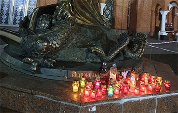 Смелые белорусы провели акцию возле Красного костела