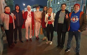 Белорусы Москвы и Санкт-Петербурга вышли на акции солидарности