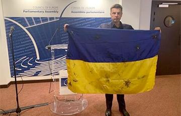 В Сети начался флешмоб в поддержку нардепа Гончаренко, который развернул в ПАСЕ украинский флаг