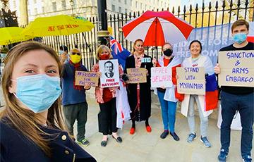 В Лондоне поддержали свободную Беларусь