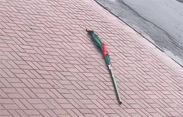Winds Of Change: Cockroach Flags Torn Down Everywhere In Belarus