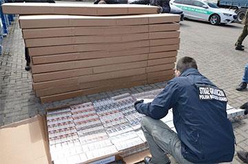 В Польше задержали самую крупную в истории партию контрабандных сигарет из Беларуси