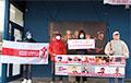 Белорусы Вильнюса вышли на акцию в поддержку Статкевича, Северинца, Афнагеля и других героев
