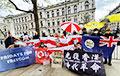 В Лондоне у резиденции премьер-министра Великобритании прошла акция солидарности с Беларусью