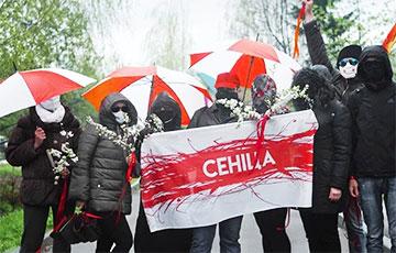 Жыхары Сеніцы выйшлі на марш у гонар Дня Перамогі