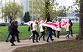Менчукі прайшлі маршам да канспіратыўнай кватэры першага антыфашысцкага падполля