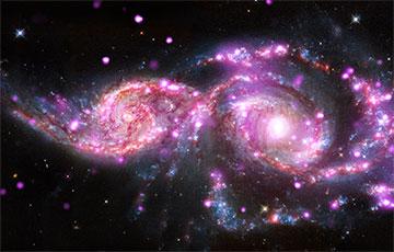 Ученые запечатлели на фотографию слияние галактик