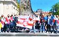 Белорусы Киева прошли маршем по городу в честь Дня Победы