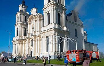 В Будславе горел знаменитый костел