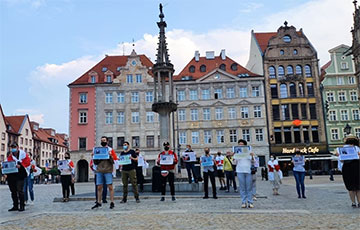 Belarusians Of Wroclaw Organized Rally In Support Of European Belarus Activists And Pavel Seviarynets