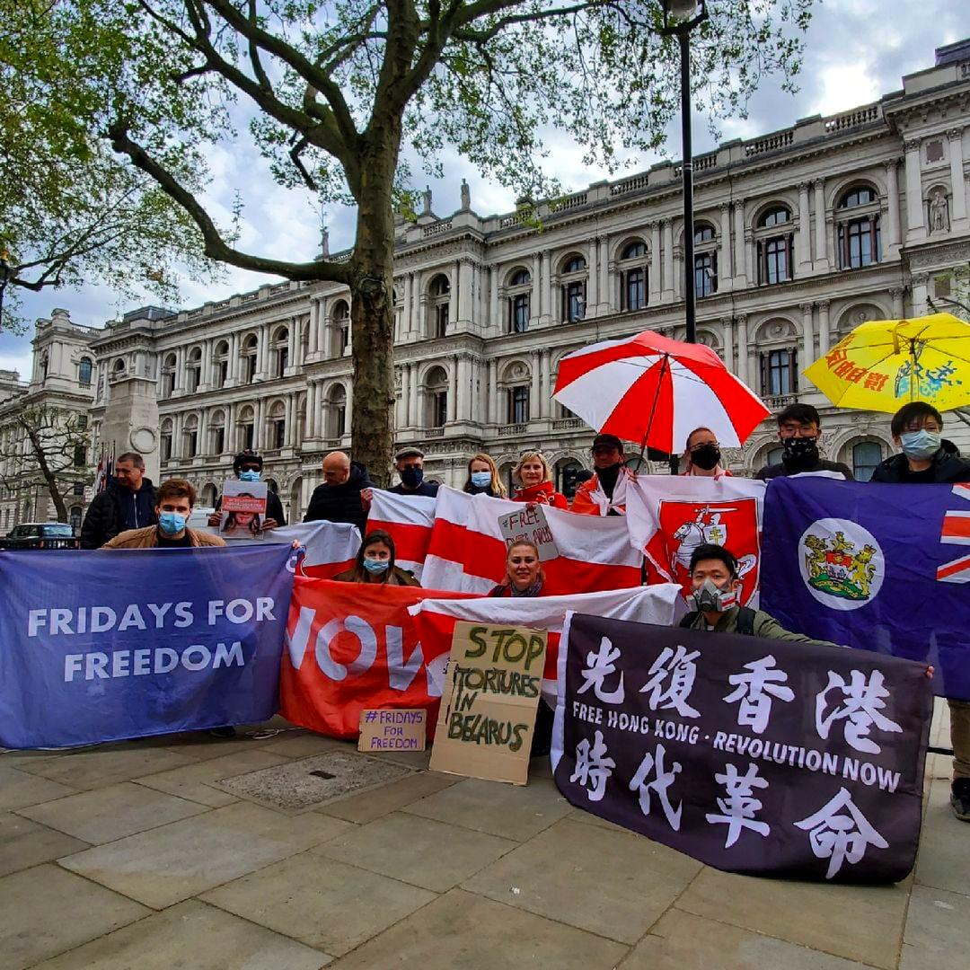 В самом центре Лондона прошла акция в поддержку Беларуси1