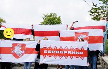 Свободная Серебрянка вышла на акцию солидарности с Героями Беларуси
