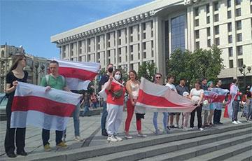 Белорусы Киева поддержали активистов «Европейской Беларуси» и студентов
