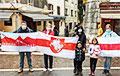 Акции в поддержку Беларуси прошли в России, Франции, Шотландии и Бельгии