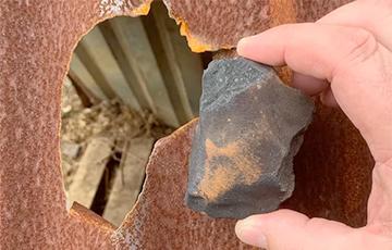 Касмічны скарб: навукоўцы знайшлі каштоўныя «падарункі» ў метэарыце, які ўпаў на жылы дом