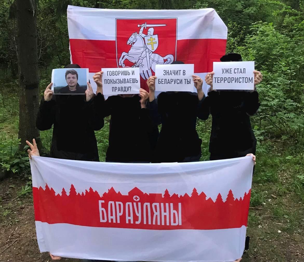 Белорусы вышли на акции протеста4