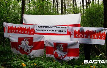 Партизаны Дзержинска вышли на бело-красно-белую акцию0