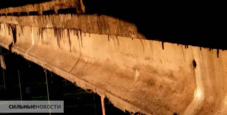 Ржавая арматура, куски бетона на земле, трещины в асфальте: что происходит с мостами в Гомеле12