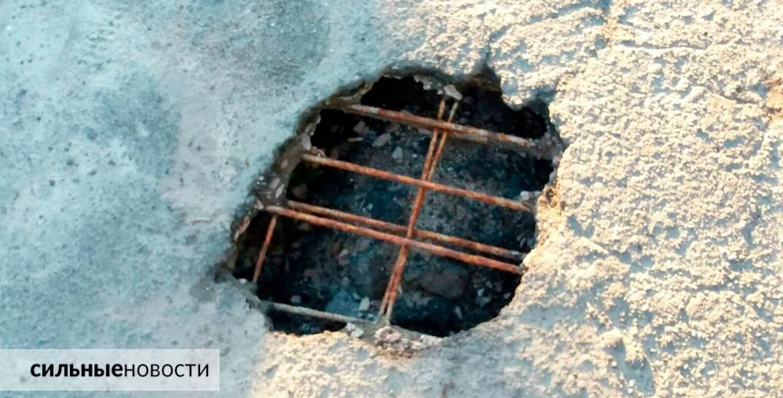 Ржавая арматура, куски бетона на земле, трещины в асфальте: что происходит с мостами в Гомеле13