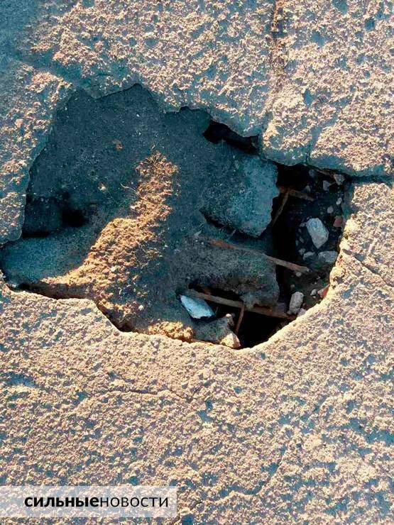 Ржавая арматура, куски бетона на земле, трещины в асфальте: что происходит с мостами в Гомеле2