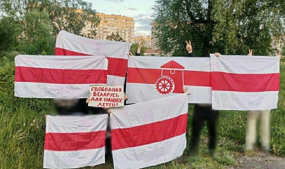 Белорусы провели ряд акций протеста1