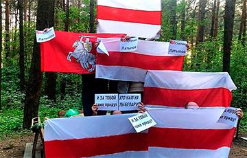 Белорусы провели ряд акций протеста0