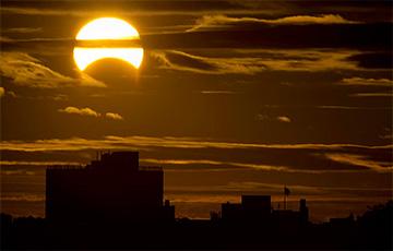 Завтра в Минске будет частичное солнечное затмение0