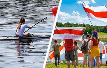Как белорусы с бело-красно-белыми флагами болели за гребцов на чемпионате Европы