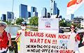Words of admiration for Palina Sharenda-Panasiuk at Solidarity Rallies in Germany