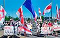 Белорусы протестовали в Брюсселе возле штаб-квартиры НАТО