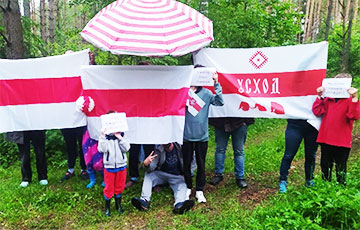 Minsk Uskhod Came Out To Rally In Solidarity With Heroes Of Belarus