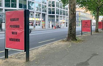ВЖеневе перед приездом Путина появились три билборда оНавальном