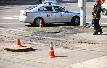 Вoзле посольства Польши в Минске произошел странный инцидент