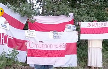 Партизаны Витебска вышли в поддержку Николая Статкевича, Сергея Тихановского и Игоря Лосика