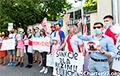 Беларусы пікетавалі амбасаду Аўстрыі ў Варшаве