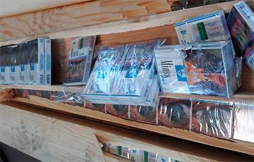 Белорусские сигареты нашли на литовской границе