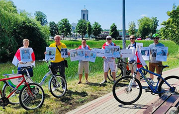 Белорусы Белостока провели велопробег солидарности c героями-медиками