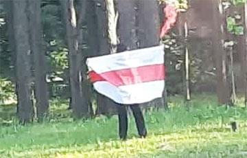 Партызаны Зялёнага Лугу правялі моцную акцыю з фаерам