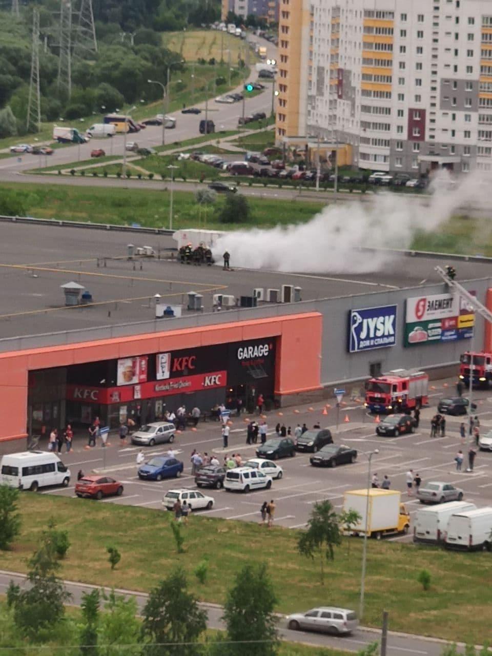 В Минске горел супермаркет «Гиппо»1