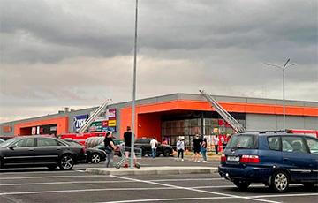 В Минске горел супермаркет «Гиппо»0