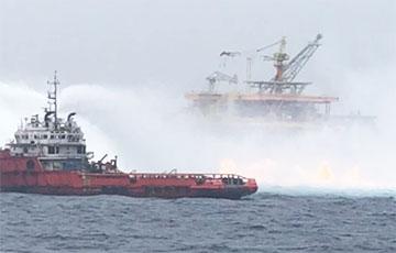 На подводном нефтепроводе в Мексиканском заливе произошел пожар: видео0